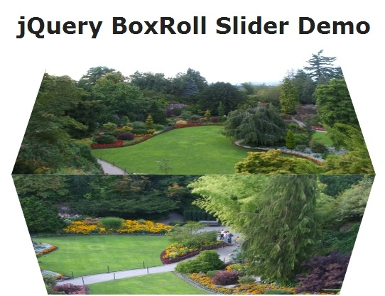 Simple 3D Flipping Cube Slideshow with jQuery and CSS3 - BoxRoll Slider