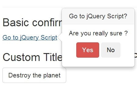 Simple Action Confirmation Plugin With jQuery and Bootstrap - PopConfirm