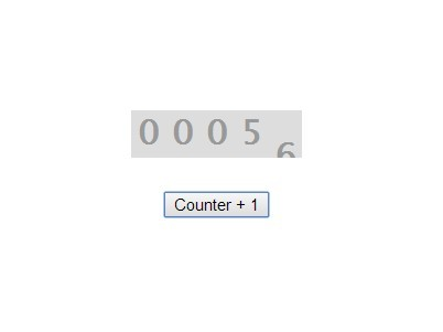 Simple Animated Counter Plugin For jQuery - Counter Plus One