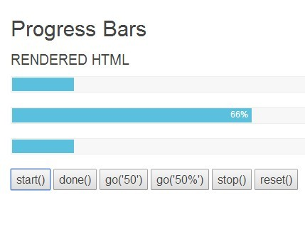 Simple Animated Progress Bar with jQuery and CSS3 - asProgress