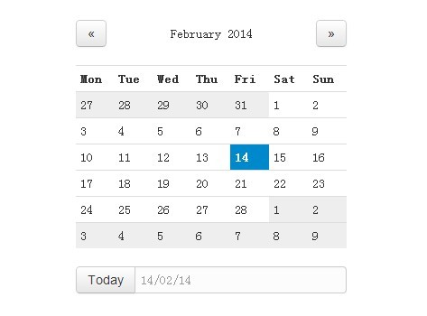 Simple Animated jQuery Calendar Plugin with Bootstrap - SuperCal