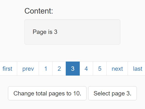 Simple Boostrap Pagination Plugin With jQuery