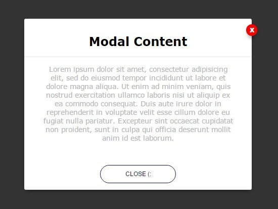 Simple css3 animated modal window with jquery for Window jquery