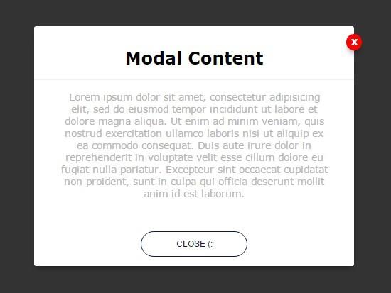 Simple CSS3 Animated Modal Window with jQuery - elegantModal