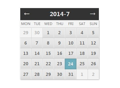 simple clean jquery calendar date picker plugin free jquery plugins. Black Bedroom Furniture Sets. Home Design Ideas