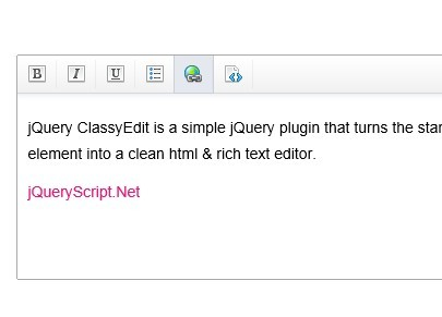 Simple and Clean jQuery Html & Text Editor Plugin - ClassyEdit
