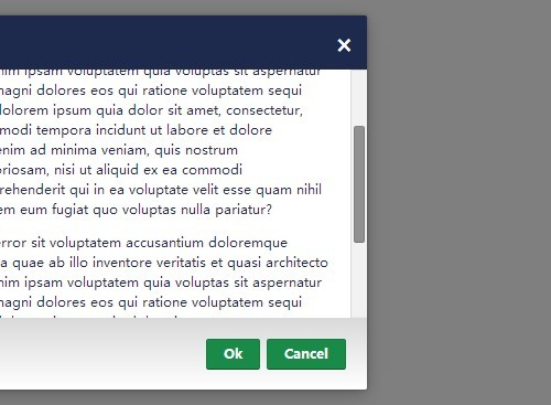 Simple Clean jQuery Scrollable Modal Dialog Plugin - Tiny Modal