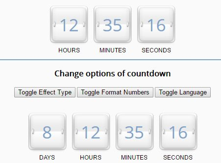 Simple Countdown / Periodic Timer Plugin With jQuery - SyoTimer