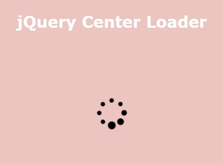 Simple Customizable jQuery Loader Plugin - Center Loader