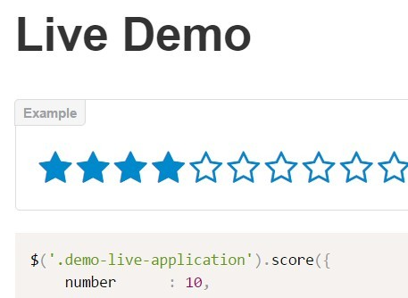 Simple Customizable jQuery Rating Plugin - score.js