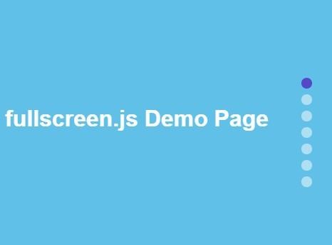 Simple Full Window Vertical Scrolling Plugin For jQuery - fullscreen.js