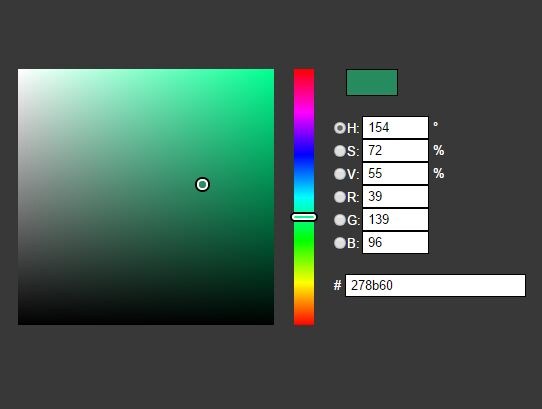 Simple HSV/RGB Color Picker Plugin For jQuery - jColor-Picker