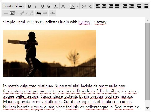 Simple Html WYSIWYG Editor Plugin with jQuery - Cazary