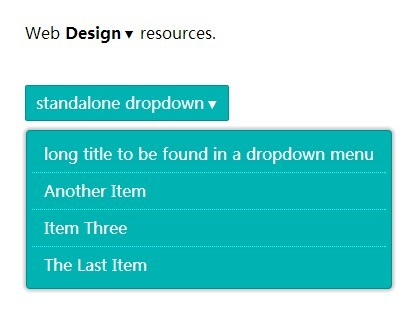 Simple Inline Dropdown List Plugin with jQuery