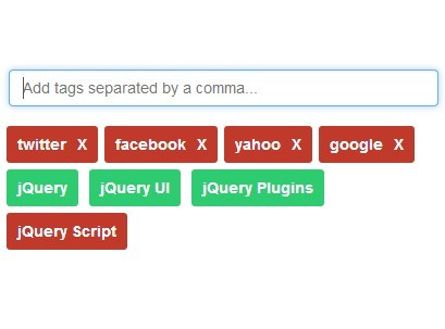 bootstrap 4 tags input