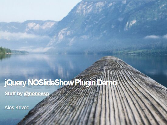 Simple Multi-purpose jQuery Slideshow Plugin - NOSlideShow