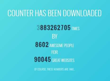 Simple Number Animation Plugin With jQuery - Counter