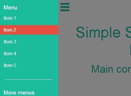 Simple Off-canvas Sidebar Navigation Plugin with jQuery