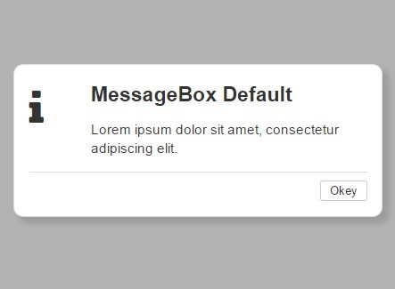 Simple Pretty jQuery Message Box Plugin - messageBox