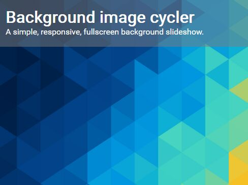 Simple Responsive Background Image Cycler With jQuery