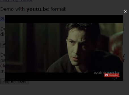 Simple Responsive Youtube Video Modal Plugin With jQuery - YU2FVL