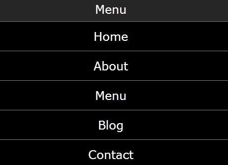 Simple Responsive jQuery Dropdown Mobile Menu Plugin - Mobile-Menu