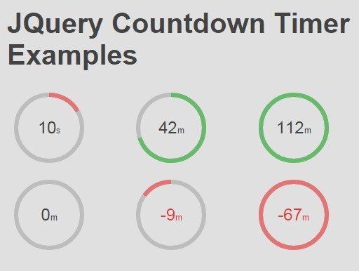 Simple Round Countdown Timer Plugin For jQuery