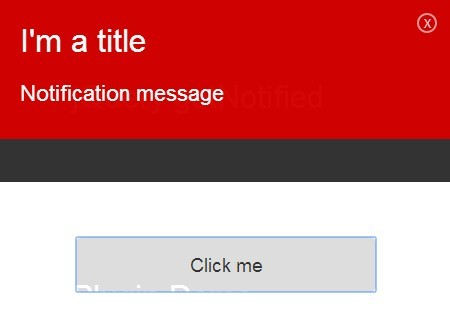 Simple Sliding Notification Bar Plugin For jQuery - getNotified