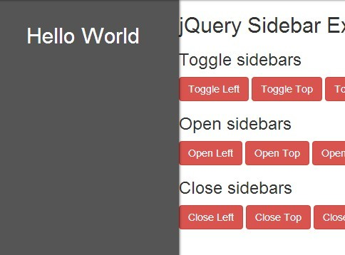Simple Sliding Sidebar Panels with jQuery - Sidebar