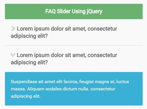 Simple Smooth FAQ Accordion with jQuery and CSS - FAQ Slider