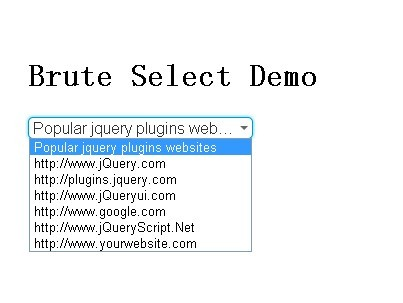 Simple Stylizable Select Input Plugin with jQuery - Brute Select