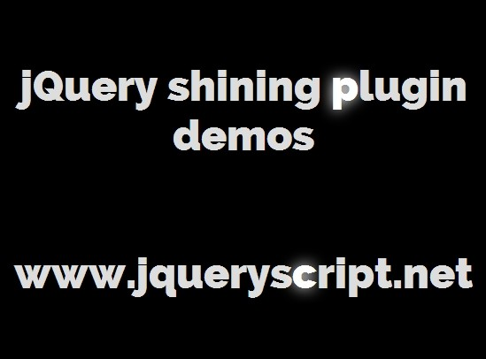 Simple Text Shining Effect with jQuery - shining