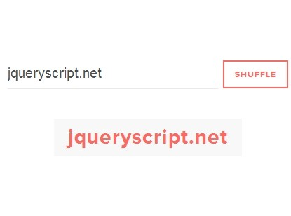 Simple Text Shuffle Effect with jQuery - Shuffle Text