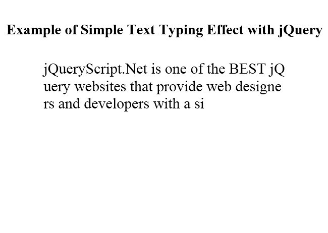 Simple Text Typing Effect with jQuery