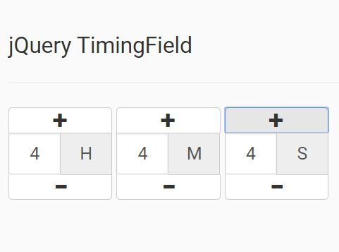 simple time input spinner plugin with jquery timingfield