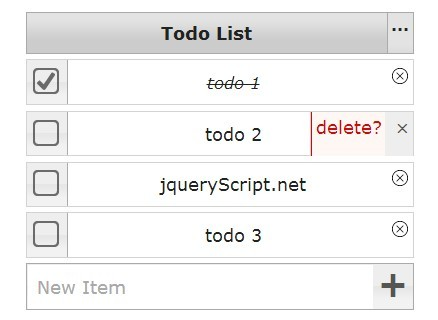 jQuery todo list Plugins | jQuery Script | to do list jquery