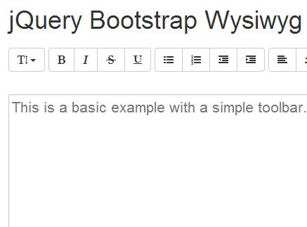 Simple WYSISWYG Rich Text Editor with jQuery and Bootstrap