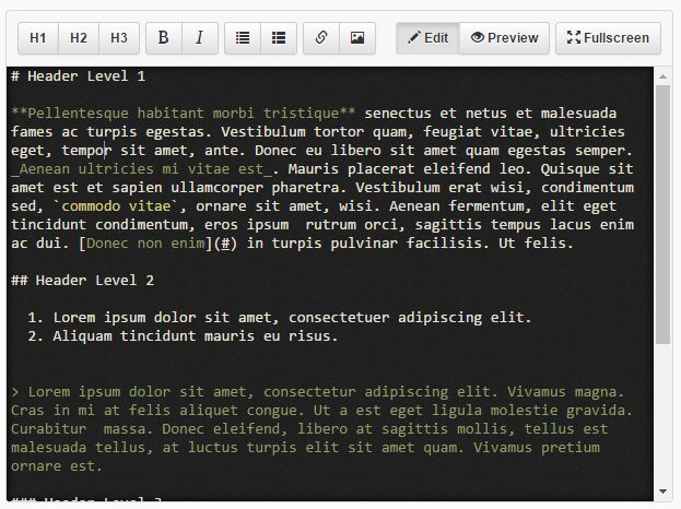 Simple WYSIWYG Markdown Editor With jQuery And Bootstrap