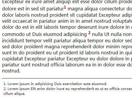 Simple jQuery Animated Footnote/Endnote Plugin