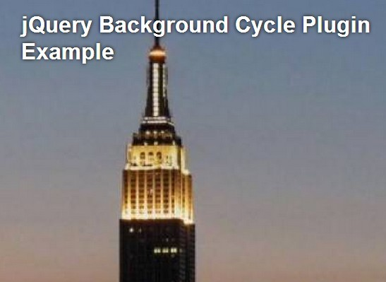 Simple jQuery Background Image Slideshow with Fade Transitions - Background Cycle