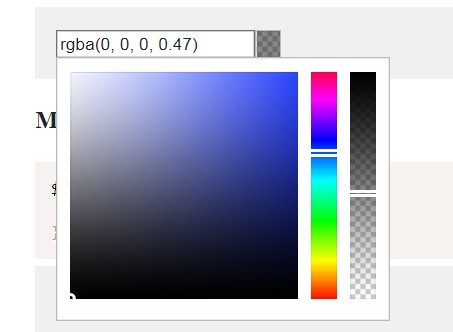 Simple jQuery Based Color and Gradient Picker - asColorPicker