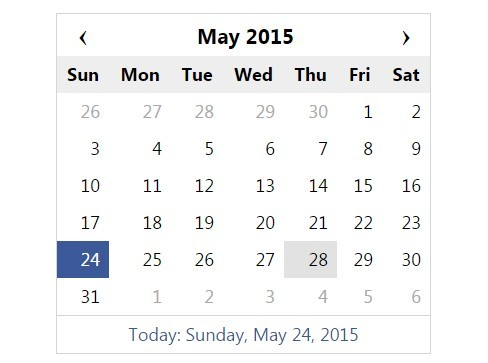 Simple jQuery Calendar and Date Picker Plugin - DCalendar