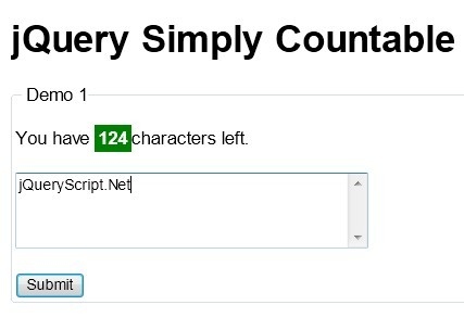 Simple jQuery Characters & Words Counter Plugin - Simply Countable