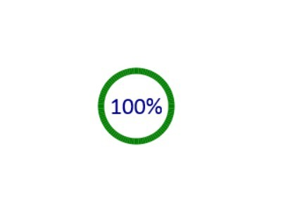 Simple Jquery Circular Loading Bar With Percentage