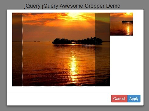 Simple jQuery Client Side Image Cropping Plugin - Awesome Cropper