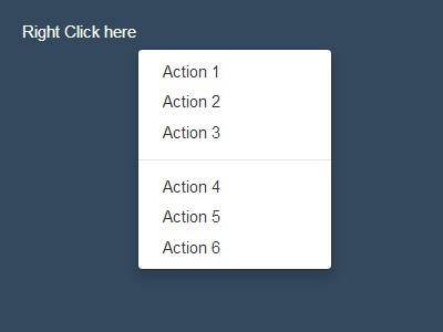 Simple jQuery Context Menu Plugin For Bootstrap - Context-menu
