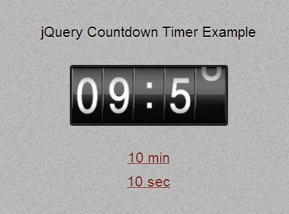 Simple jQuery Digital Countdown Timer Plugin