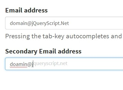 Simple jQuery Email Autocomplete & Suggestion Plugin