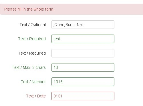 Simple Jquery Form Validation Plugin With Jquery Ui And Bootstrap