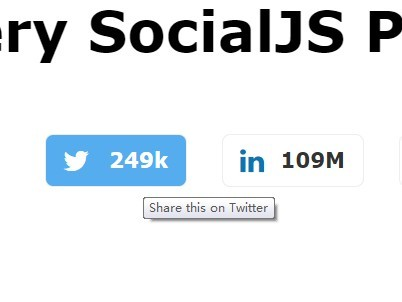 Simple jQuery Plugin For Custom Social Share Buttons - SocialJS